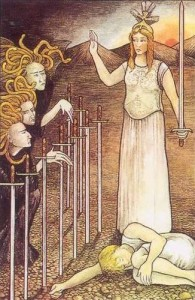 Mythic Tarot 10 of Swords