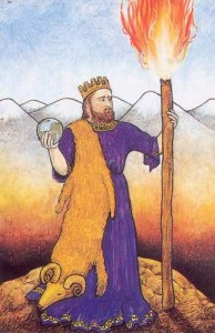 Mythic Tarot Ace of Wands